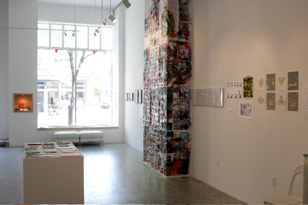 This is a comic book show at Mahan Gallery
