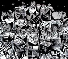 Pop up card – illusion city