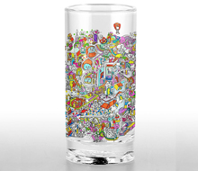 Comic glass cup