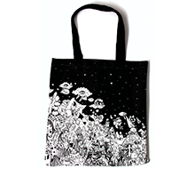 Black Wonderland Tote Bag