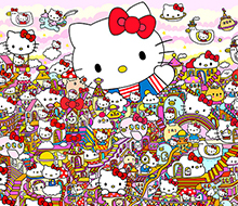 Hello Kitty's 45th Anniversary Group Show in Corey Helford Gallery in Los Angeles