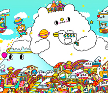 White Cloud Bear and the mountains